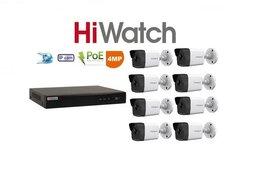 Камеры видеонаблюдения - Видеонаблюдение HiWatch (IP-POE) на 8камер 4Mxp, 0