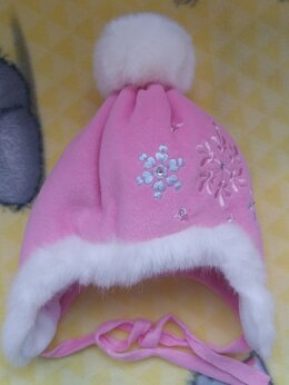 Головные уборы - Зимняя детская шапочка. 50 размер. Новая., 0