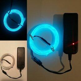 Интерьерная подсветка - Неоновый шнур с Блоком питания от Батареек, 0