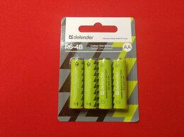 Батарейки - Батарейка солевая Defender R6-B AA 4 шт блистер, 0