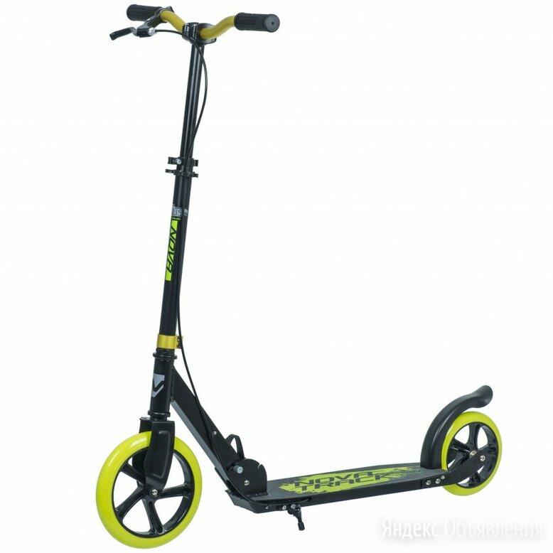 Самокат городской NOVATRACK POLIS лимонный (колеса 230*200 мм) по цене 7020₽ - Велосипеды, фото 0