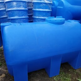 Баки - Пластиковый резервуар на 2000 литров. Горизонтальный, 0
