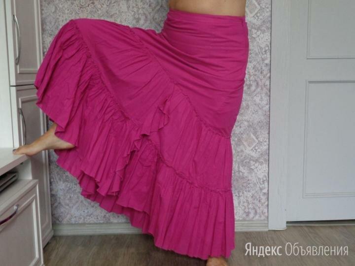 Макси-юбка фуксия бохо boho по цене 900₽ - Юбки, фото 0