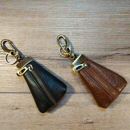 Брелоки и ключницы - Ключница - мешочек из натуральной кожи., 0