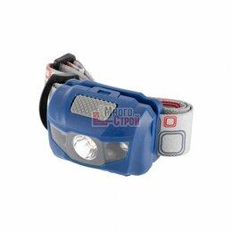 Настольные игры - Фонарь налобный Space, ABS пластик, 4 режима, 1 Вт LEDх120 лм, 2 red LED, 8 часо, 0
