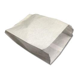 Фольга, бумага, пакеты - Пакет бумажный белый без печати 140х60х290мм…, 0