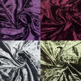 Рукоделие, поделки и товары для них - Ткань бархат мрамор (айс) разные цвета, 0