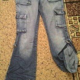 Джинсы - Женские джинсы с карманами 29 размера, 0