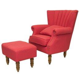 Кресла - Кресло с оттоманкой красное Lab, 0