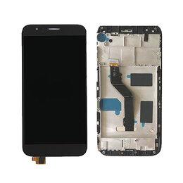 Дисплеи и тачскрины - Дисплей + тач Huawei G7 / G8 Plus на рамке черный, 0