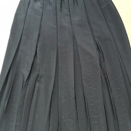 Юбки - Юбка плиссе, чёрная, на резинке, 0