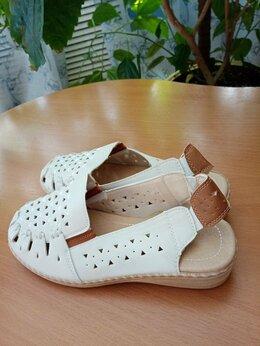 Босоножки - Белые открытые женские туфли, экокожа, р. 38, 0