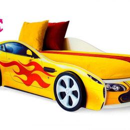Кроватки - Кровать-машина Бондмобиль, желтый, 0