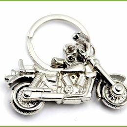 Брелоки и ключницы - МОТОЦИКЛ руль и колеса крутятся брелок 5,6*3см 35,6гр, 0