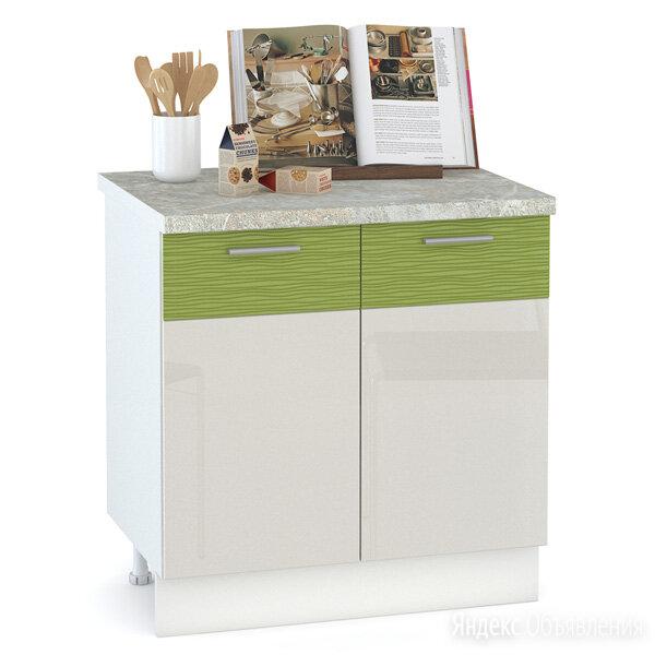 Кухня Жанна шагрень платина/морковный металлик Стол 800 2 двери по цене 5331₽ - Дизайн, изготовление и реставрация товаров, фото 0