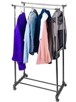 Вешалки напольные - Вешалка стойка напольная для одежды на колесиках…, 0
