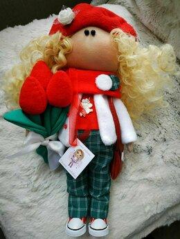 Куклы и пупсы - Интерьерная текстильная куколка, 0