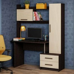 Компьютерные и письменные столы - ОН 45 (Паскаль) НМ 1 Уголок школьника венге/дуб, 0