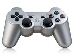 Рули, джойстики, геймпады - Джойстик для PS3 серебряный, 0