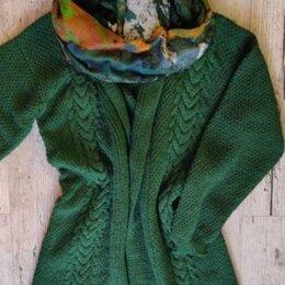 Свитеры и кардиганы - Кардиган/жакет/вязаное пальто р.44-50 (оверсайз) ручная вязка новый, 0