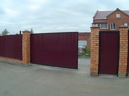 Заборы и ворота - откатные ворота, 0