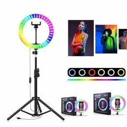 Фотовспышки - Кольцевая лампа 26, 33 см RGB LED Soft Ring Light MJ33, 0
