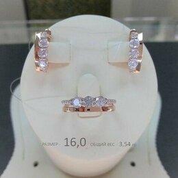 Комплекты - Золотой комплект с Фианитами, размер кольца 16,0…, 0