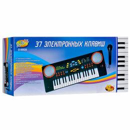 Клавишные инструменты - Синтезатор «Весёлые мелодии» с микрофоном, 37 клавиш, 0