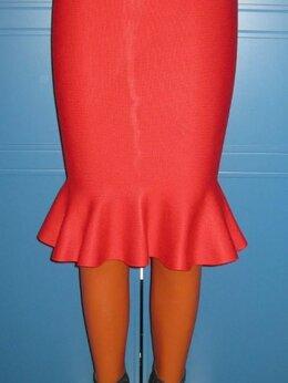 Юбки - Ярко-красная юбка-годе, р.42-44, 0