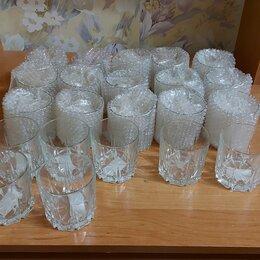 Бокалы и стаканы - Новые стеклянные стаканы 200 мм для компота и киселя, 0