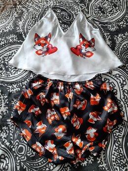 Домашняя одежда - Шелковая пижамка + подарок(сережки), 0