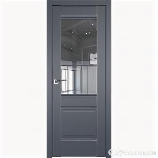 Межкомнатные двери Profil Doors 2U Антрацит Стекло Прозрачное С Филенкой 2000... по цене 10182₽ - Межкомнатные двери, фото 0