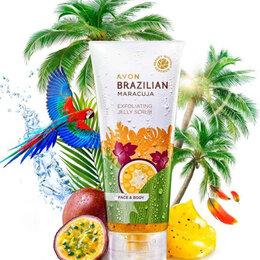 Скрабы и пилинги - Отшелушивающий скраб-желе для лица и тела Avon Бразильская маракуйя 150 мл, 0