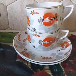 Кружки, блюдца и пары - Продаю две чайные пары, Песочное, 1960 г, 0