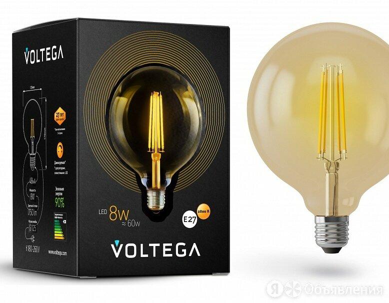 Лампа светодиодная Voltega Loft led E27 8Вт 2800K VG10-G125Gwarm8W по цене 530₽ - Лампочки, фото 0