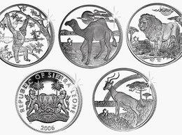 Монеты - 1 доллар 2006 Сьерра Леоне. Шимпанзе, верблюд,…, 0