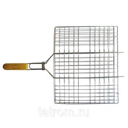 Решетки - Totem решетка-гриль хром плоск бол 40*30см, 0