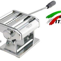 Пельменницы, машинки для пасты и равиоли - Marcato Classic Ampia 150 mm ручная тестораскатка - лапшерезка Италия, 0