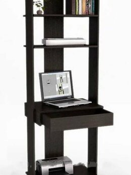 Компьютерные и письменные столы - Компьютерный стол с полками, 0