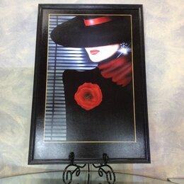 Картины, постеры, гобелены, панно - Картина Арт-деко «Дама с цветком». Акрил,…, 0