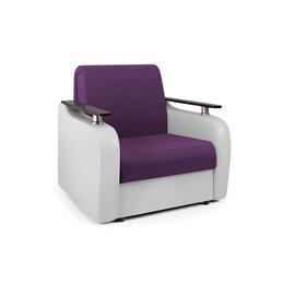 Кресла - Кресло-кровать «Гранд Д» фиолетовая рогожка и…, 0