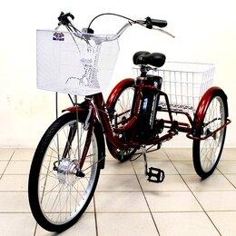 Мототехника и электровелосипеды - Электровелосипед трехколесный Farmer E-3W 6 ск. 24'', 0