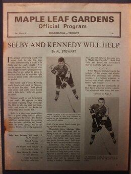 Спортивные карточки и программки - Хоккей. Программа матча НХЛ 08.03.1969…, 0