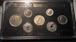 Монеты - Греция Монеты банковский набор 1954-60 гг. Метал…, 0