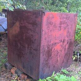 Бочки - Железные баки, квадратные, БОЛЬШИЕ - 2 штуки, 0