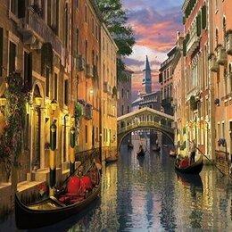 Раскраски и роспись - Картина по номерам на холсте-город на воде, 0