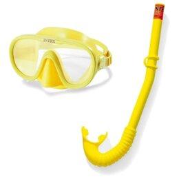 """Аксессуары для плавания - Набор для подводного плавания Интекс """"Искатель приключений"""" (маска,..., 0"""