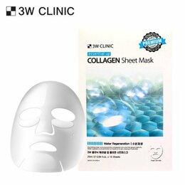 Маски - 3W Clinic Тканевая маска для лица с коллагеном, 0
