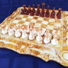 Настольные игры - Шахматы янтарные. Шахматная доска малая (08), 0