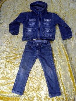 Джинсы - Комплектом джинсы Zara и джинсовая куртка на 2-3г, 0